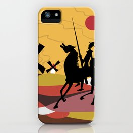 Don Quixote and Sancho iPhone Case