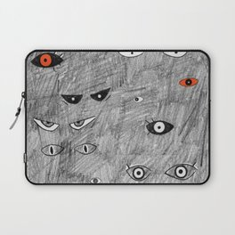 Eyes in the Dark by Chrissy Curtin Laptop Sleeve