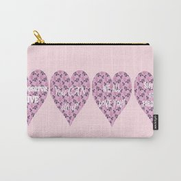 Encouragement hearts Carry-All Pouch