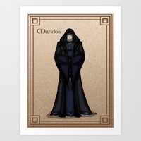 valar morghulis Art Prints featuring Mandos by wolfanita