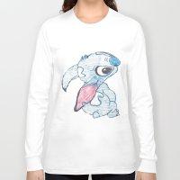 stitch Long Sleeve T-shirts featuring Stitch by Art By JuJu
