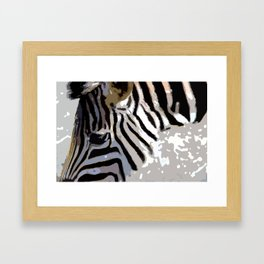 Zebra-Art Framed Art Print
