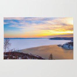 Lake Baikal and Angara River Rug