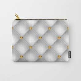 Luxury Tufted Gold Diamond 4 Carry-All Pouch