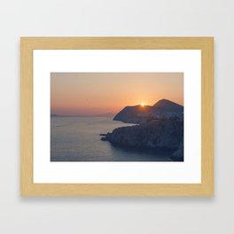 Dubrovnik Sunset Framed Art Print