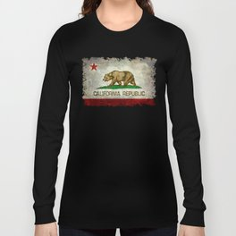 California Republic state flag Vintage Long Sleeve T-shirt