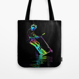 Puddle Jumping - Scooter Boy Tote Bag