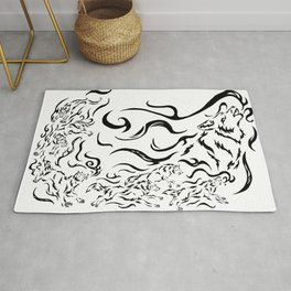 Wolf Pack Rug