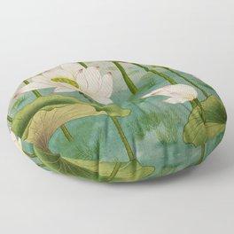 Lotus flowers D - Minhwa-Korean traditional/folk art Floor Pillow