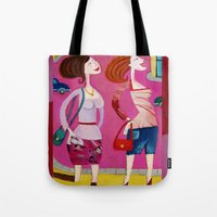 shopping Tote Bags featuring shopping by Giorgia Grippo Belfi