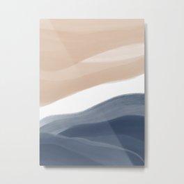 Abstract Watercolor Beach Metal Print