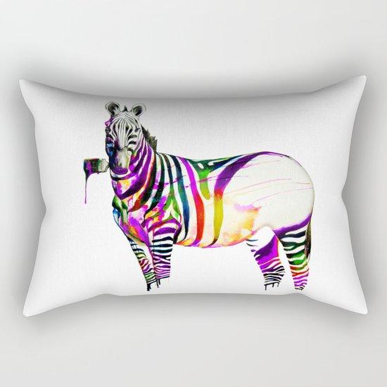 zebra painting Rectangular Pillow