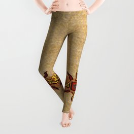 Chu Mtu African Folk Art Leggings
