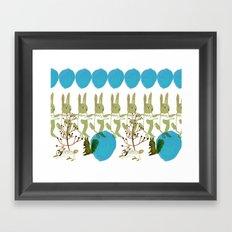 rabbits, squirrel, dot and plant Framed Art Print