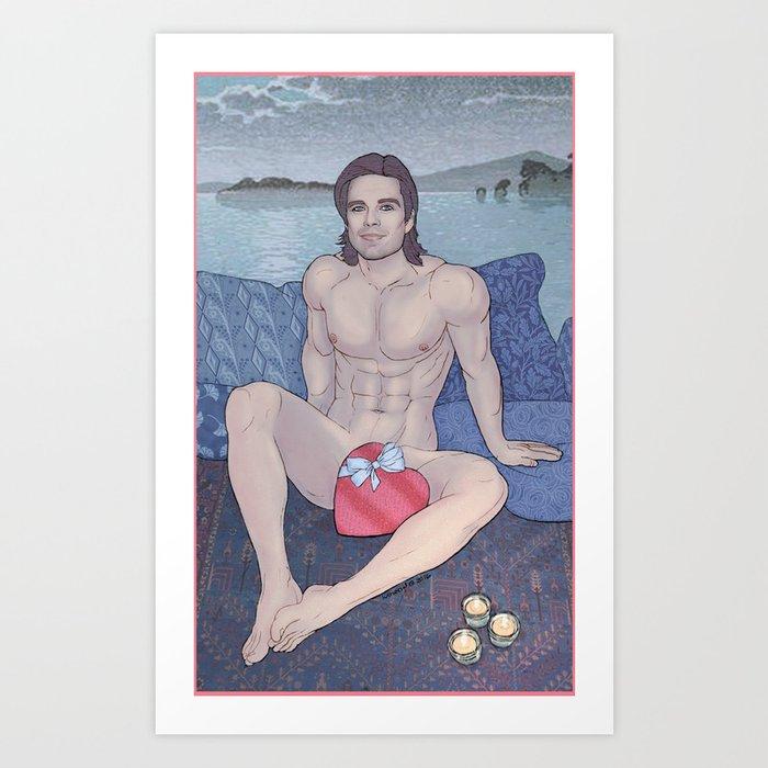 Bucky is my Sweetheart Art Print