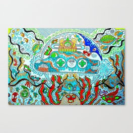 Supersonic_Cosmic_submarine Canvas Print