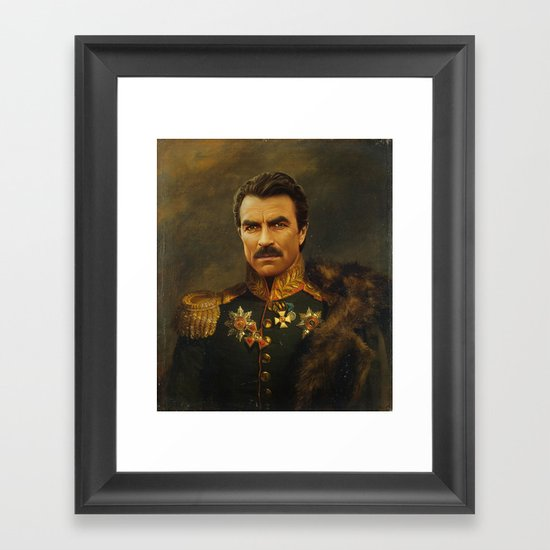 Tom Selleck - replaceface Framed Art Print