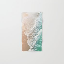 Soft Emerald Beige Ocean Dream Waves #1 #water #decor #art #society6 Hand & Bath Towel