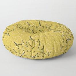 Leaf gold pattern Floor Pillow