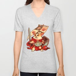 Corgi knight Unisex V-Neck