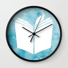 Watercolour Book (Blue) Wall Clock
