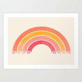 Whimsical Vintage Rainbow Waves Kunstdrucke