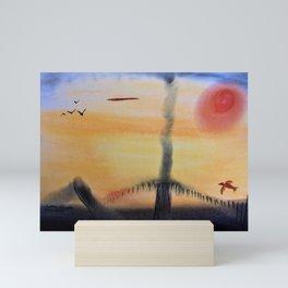 Sandman at Sunset Mini Art Print