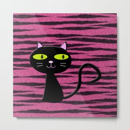 tiger kitty Metal Print