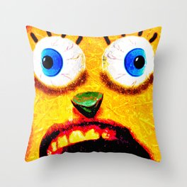 Boxface #3 Throw Pillow