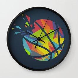 Basketball Explosion Triangle Wall Clock