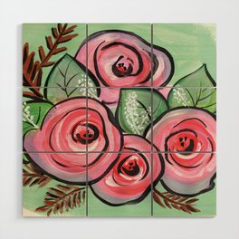 Roses for my Valentine Wood Wall Art