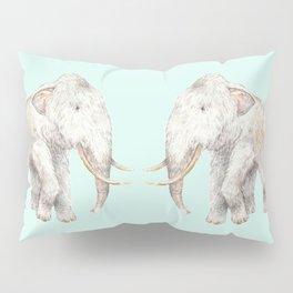Woolly Mammoth Watercolor Mastodon Painting Pillow Sham
