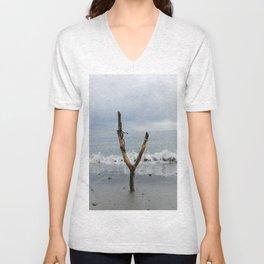 Wishbone Slingshot Into The Ocean Unisex V-Neck