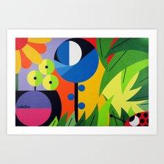Flowers - Paint Art Print