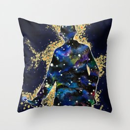 ... fallin' through space, you and me... Throw Pillow