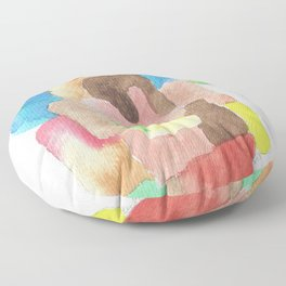171013 Invaded Space 12|abstract shapes art design |abstract shapes art design colour Floor Pillow