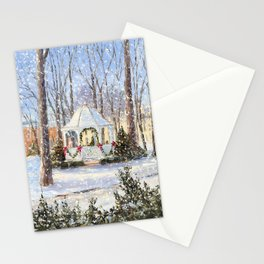 Christmas Gazebo in Petoskey Stationery Cards