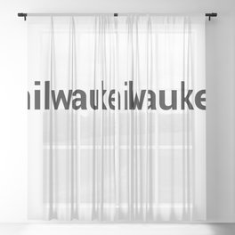 milwaukee Sheer Curtain