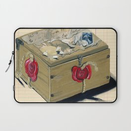 Old French Wood Box in Gouache Laptop Sleeve