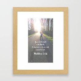 Light of the World  Framed Art Print