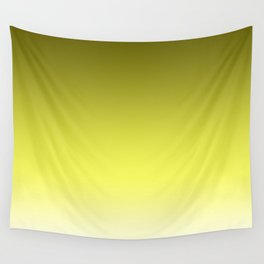 Golden Yellow Fade Wall Tapestry