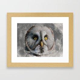 MOON OWL Framed Art Print