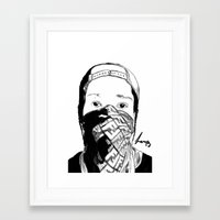 asap rocky Framed Art Prints featuring ASAP Rocky Drawing by Lumpiam