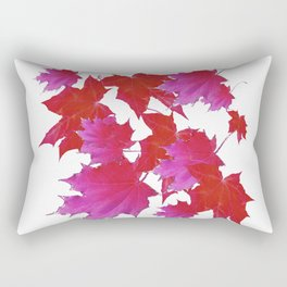 PURPLE-fuchsia maroon color blowing leaves Rectangular Pillow