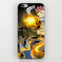 fairy tail iPhone & iPod Skins featuring Lok X Fairy Tail Crossover by Carishinlove