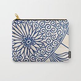 Blue Oriental Vintage Tile 01 Carry-All Pouch