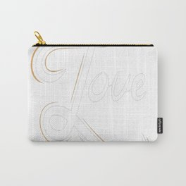 Cool Love Hand Lettering Carry-All Pouch