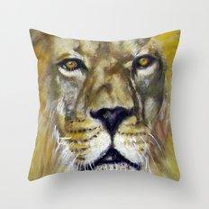 Title: Mesmerizing Lion King Throw Pillow