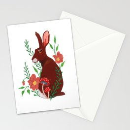 Floral Rabbit Stationery Cards