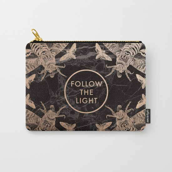 Society6 Follow the Light Quote Carry-All Pouch